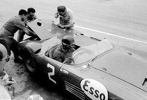 Fangio at the pit-stop, First Grand Prix of Havana 1957, Cuba