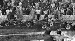 Fangio fighting with Portago, First Grand Prix of Havana 1957, Cuba